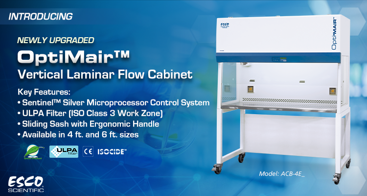 New Upgrade on OptiMair™ Vertical Laminar Flow Cabinet