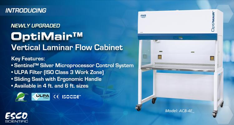 New Upgrade on OptiMair™ Vertical Laminar Flow Cabinet