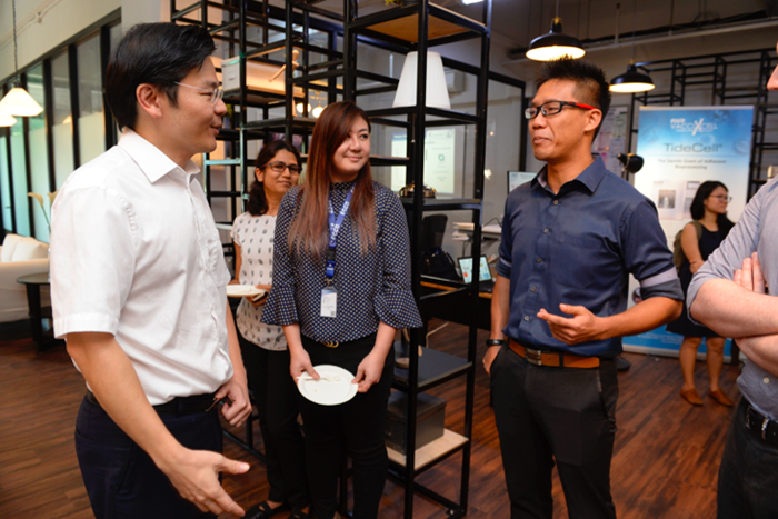Minister Wong interacting with our team members