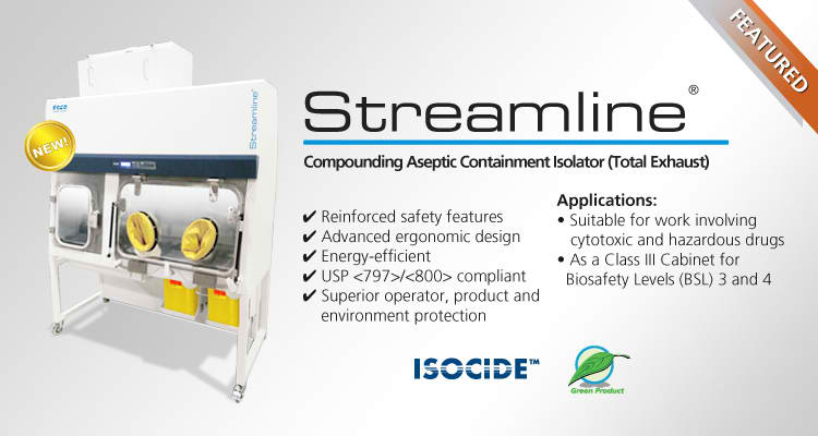 Introducing Streamline® Compounding Aseptic Containment Isolator (Total Exhaust)!