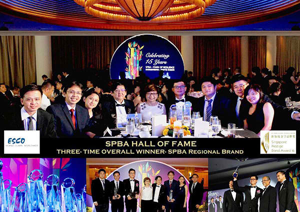 Esco inducted into the Singapore Prestige Brand Award (SPBA) - Hall of Fame