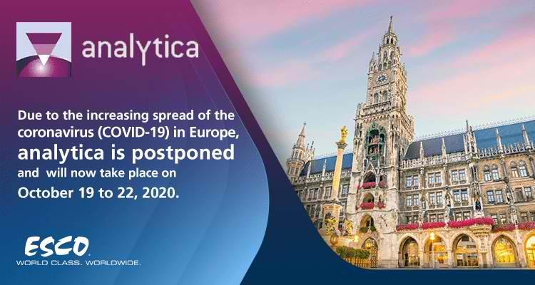 Давайте поговорим о науке: Встречайте Esco на выставке Analytica 2020 (Мюнхен)!