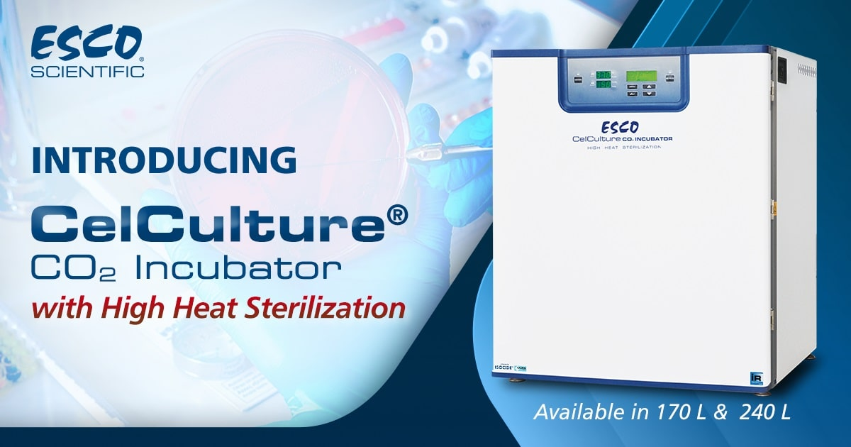 Esco Launches the CelCulture<sup>®</sup> CO<sub>2</sub> Incubator with High Heat Sterilization