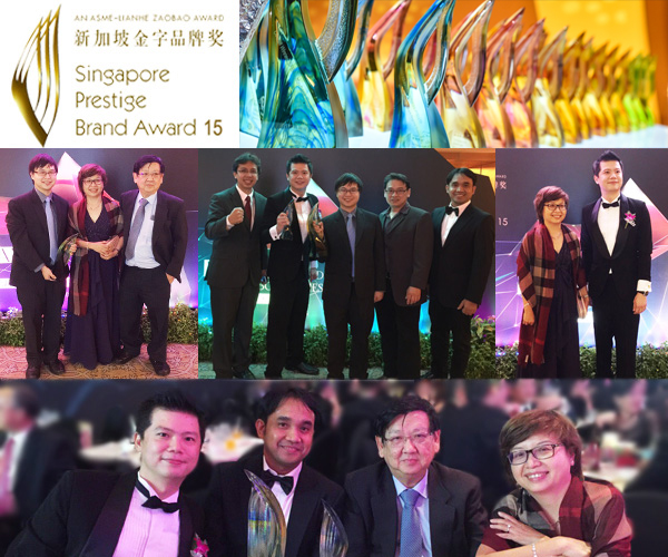 Esco awarded as the Overall Winner in the Singapore Prestige Brand Awards 2015