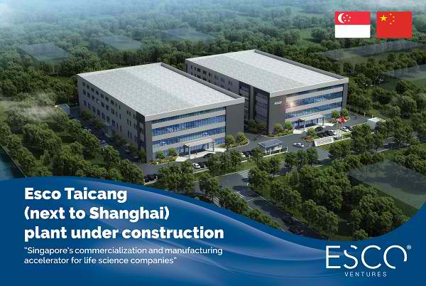 Esco invests RMB100 million into new 20,000m² Innovation Center in China