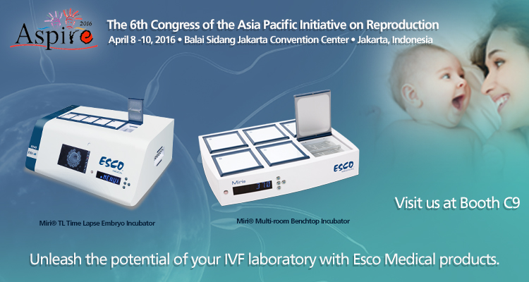 Meet our Embryo Incubators at ASPIRE Congress 2016!