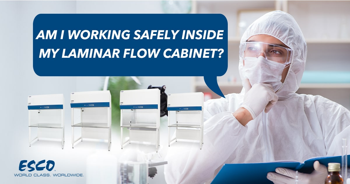How to Work Safely in a Laminar Flow Cabinet