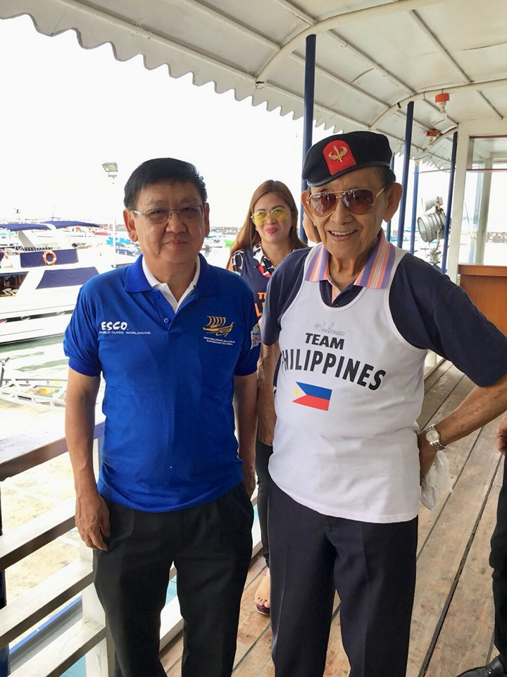 Lim Lay Yew with the former President of the Philippines, Fidel V. Ramos
