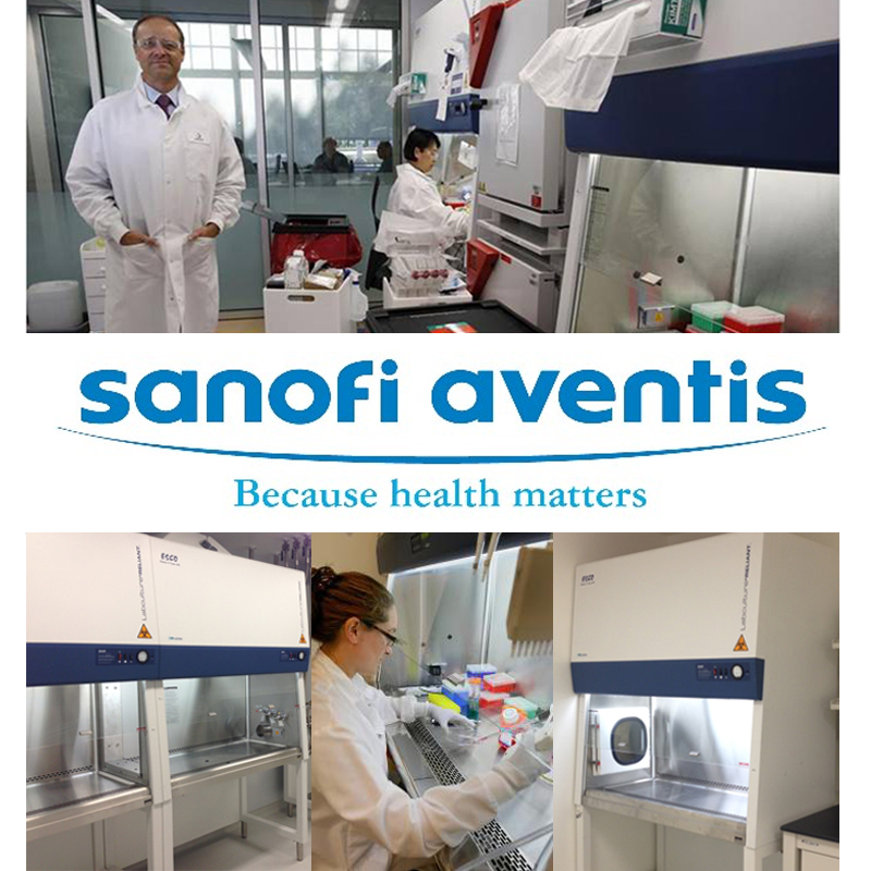 Esco Biosafety Equipment Boosted Cancer Research in Sanofi-Aventis at Cambridge, Massachusetts, USA