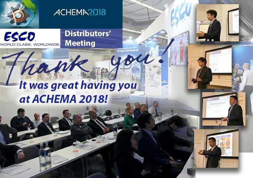 Thank you for visiting us at the ACHEMA 2018