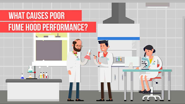 What causes poor fume hood performance?